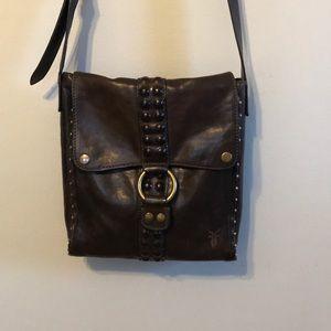 Frye Roxanne leather bag in slate color